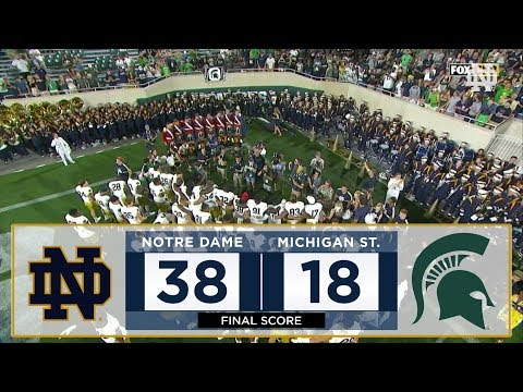 Notre Dame Football vs. Michigan State Highlights