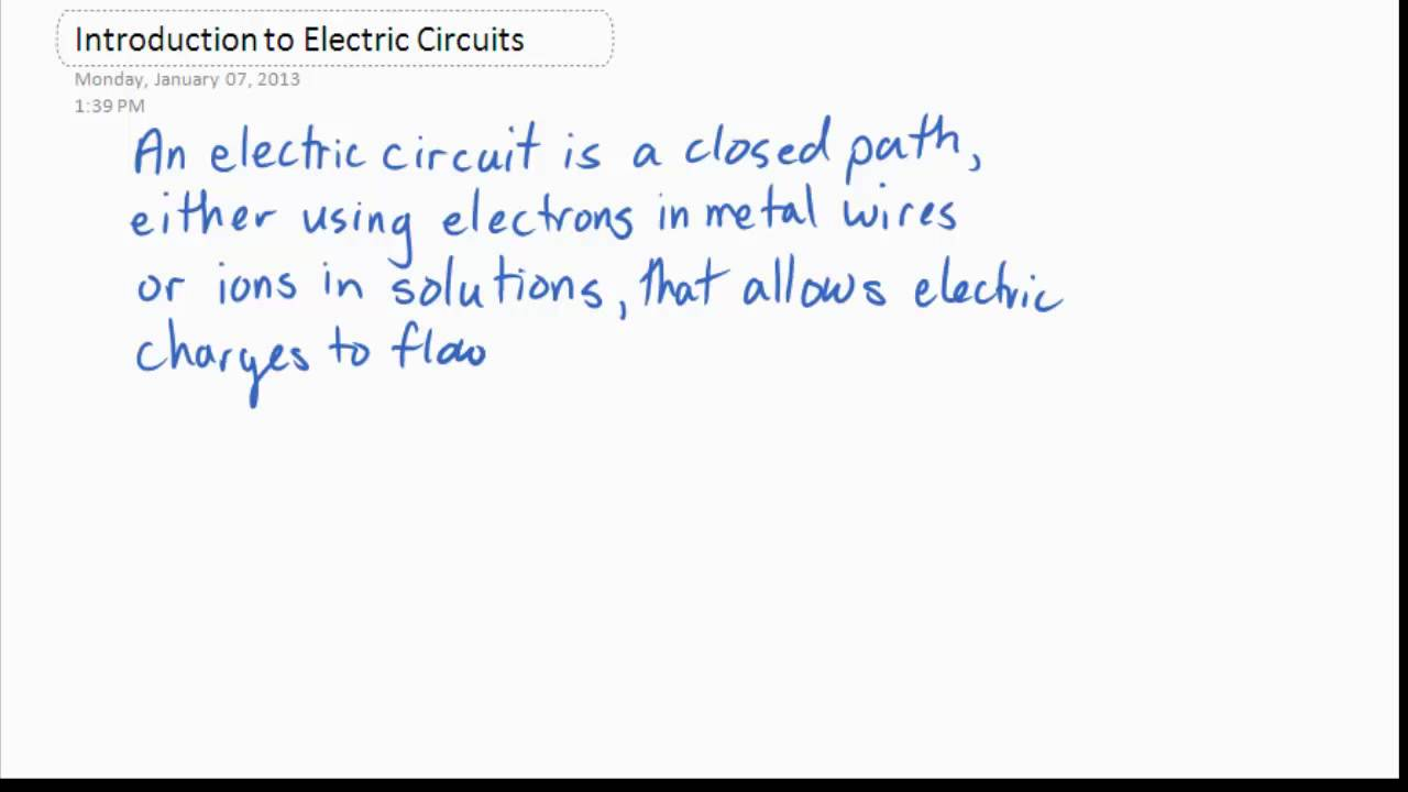 Science 9 Introduction To Electric Circuits Youtube Electrical Circuit A Is The Path By Where Charges Can Go