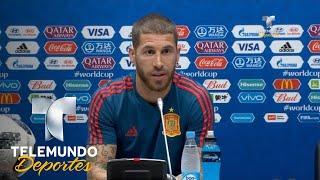 Sergio Ramos revela cómo se enteró de la destitución de Lopetegui | Copa Mundial FIFA Rusia 2018