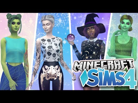 Minecraft Mobs in Sims 4 | CAS ❤