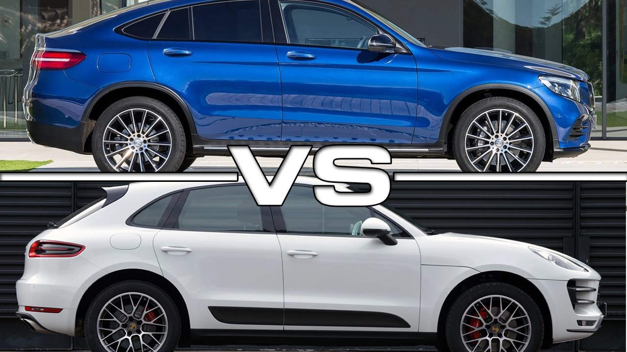 Mercedes GLC Coupe vs Porsche Macan S Road Test - YouTube