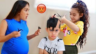 SURI CUT HER BROTHER'S HAIR OFF!! *She's Grounded* | Jancy Family