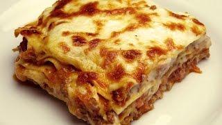 """Рецепт лазаньи с соусом """"Бешамель""""- Как быстро приготовить лазанью"""