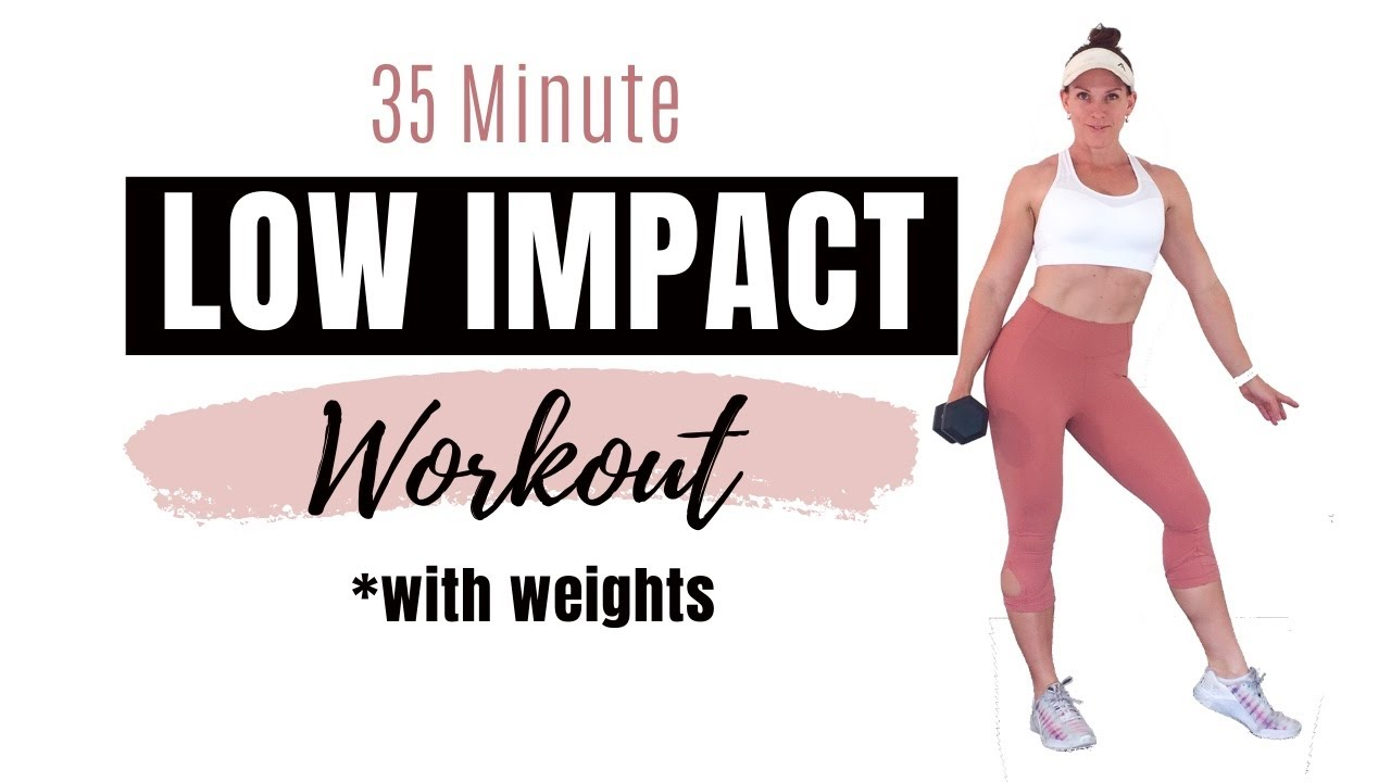 LOW IMPACT WORKOUT WITH WEIGHTS - No Jumping Strength Training