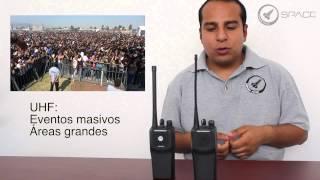 Uso de las distintos frecuencias de los radios Motorola® EP450