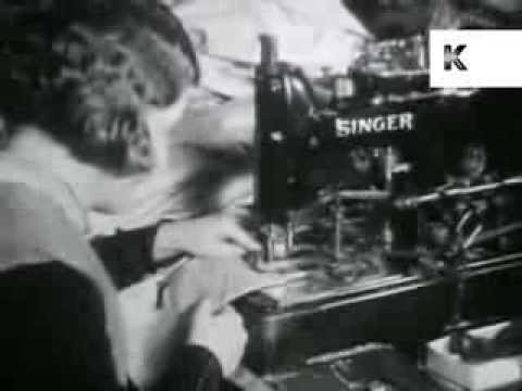 1930s UK Textile Industry, Factory, Women Workers, Sewing Machine, Rare Archive Footage