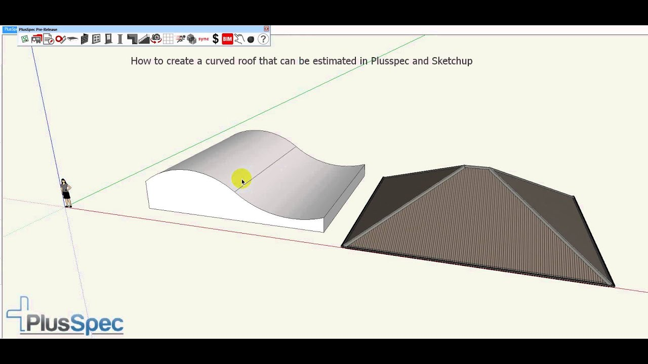 How To Create A Curved Roof And Estimate The Quantities