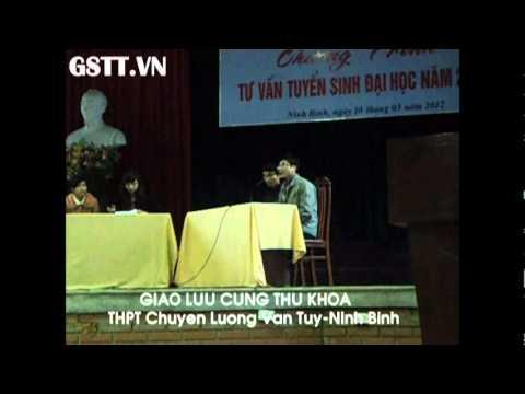 [GSTT] Giao lưu cùng thủ khoa đại học – Ninh Bình 10/03/2012