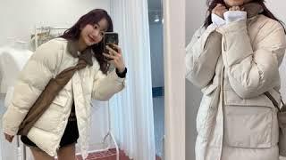 라니라이프 겨울 여성 양털카라패딩 룩북 영상입니다!