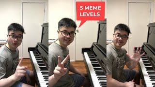 1 Day Vs 10 Years of Playing Meme Songs on Piano