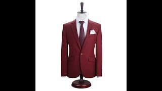 Men Suits Blazer With Pants Slim Fit