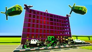 LEGO HEADQUARTER BUILDING DEMOLISHED BY NUCLEAR BOMBS! - Brick Rigs Workshop Creations Gameplay