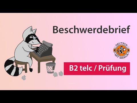 Beschwerdebrief B2 Sprachkurs Prüfungsvorbereitung B2 Telc
