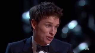 Eddie Redmayne winning Best Actor