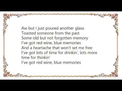 Red wine and blue memories