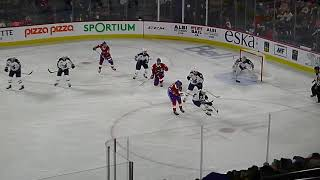 Mikhail Berdin of the Manitoba Moose makes a great save vs. Alex Belzile of Laval Rocket 2/23/19