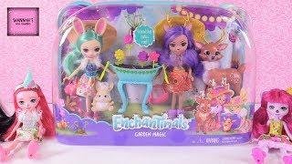 Enchantimals Garden Magic Playset Doll Review Fluffy Bunny Danessa Deer | ShannonsDollChannel