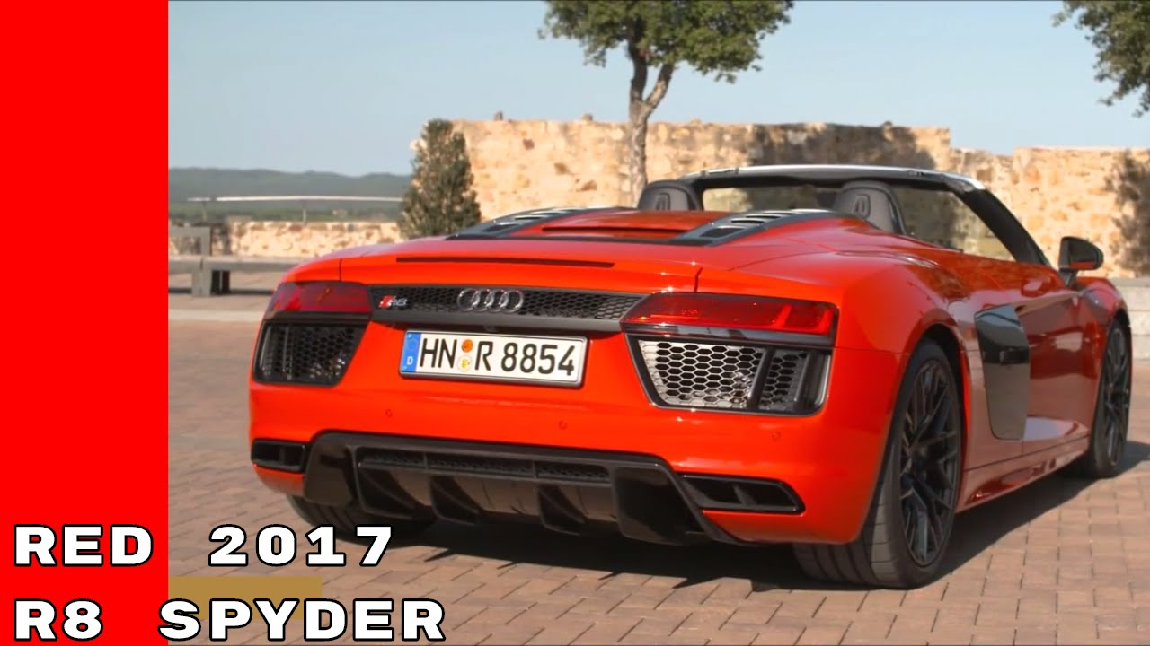 2017 Audi R8 Spyder V10 Plus In Red Color Test Drive Exhaust Sound