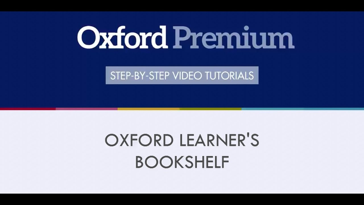 Install The Oxford Learners Bookshelf App And Download Your Digital Content