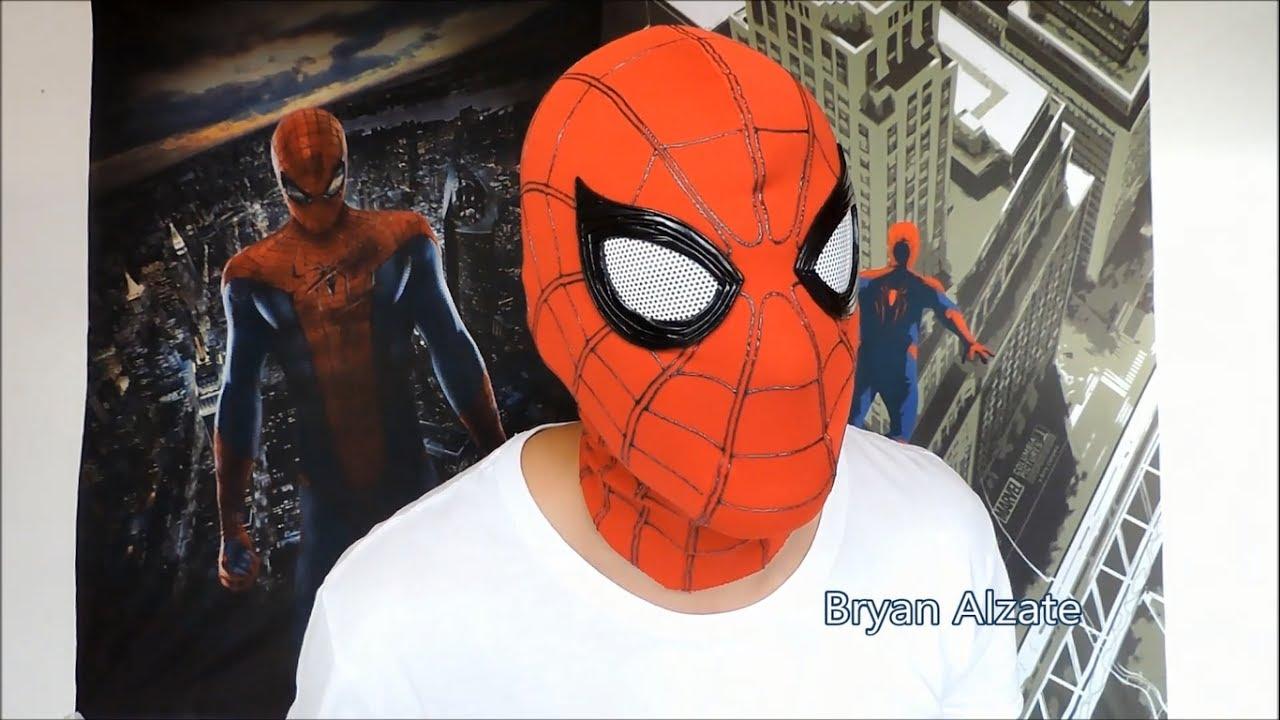 Como hacer el traje de Spiderman Homecoming Episodio 3  La mascara ... c888d19d9747