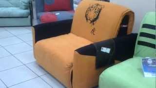 Кресло-кровать Fusion Rich (Фужн Рич) спальное место 90 см(Механизм: «аккордеон» Спальное место: 205x90 см Габариты: 115x119x87 см. Каркас: металлический, деревянные ортопеди..., 2013-01-29T20:01:54.000Z)