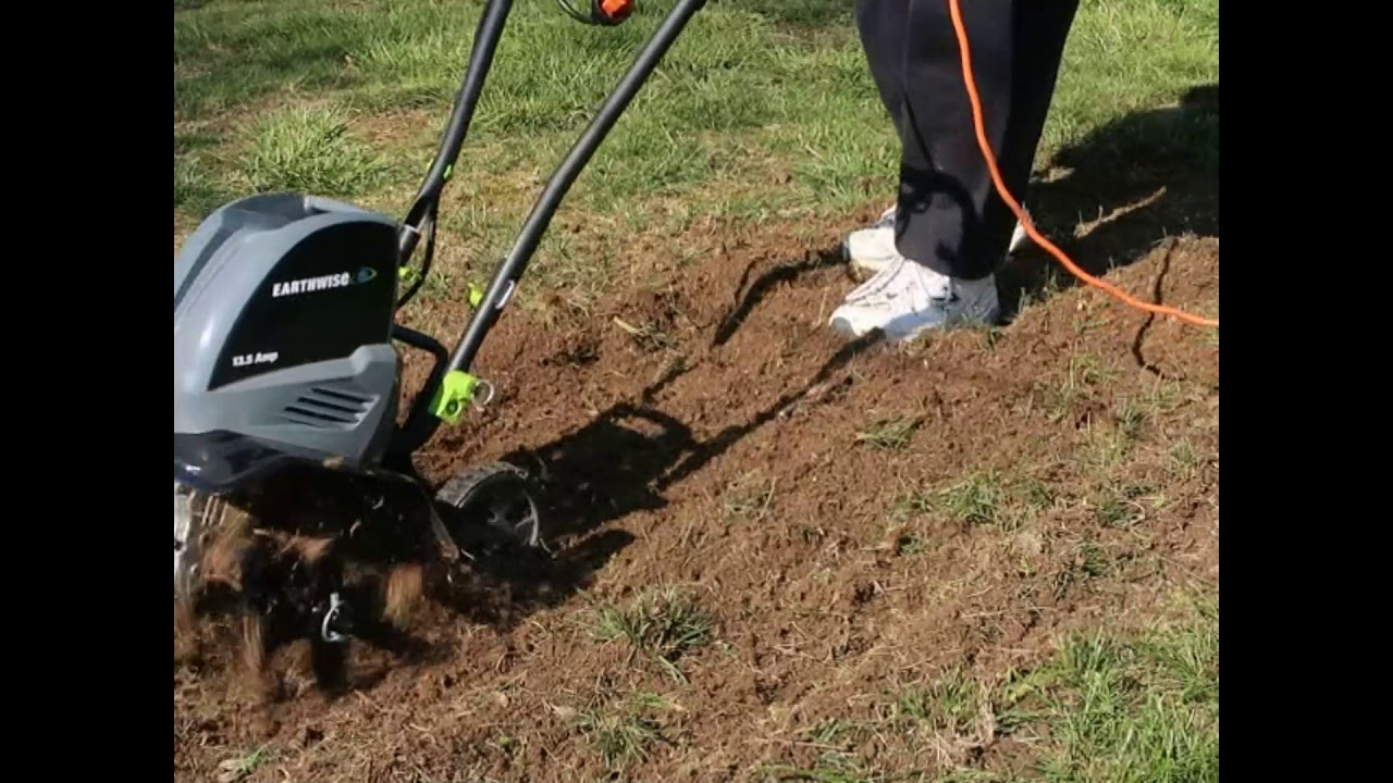 Earthwise Tc70016 16 Inch 13 5 Amp Corded Electric Tiller Review Youtube