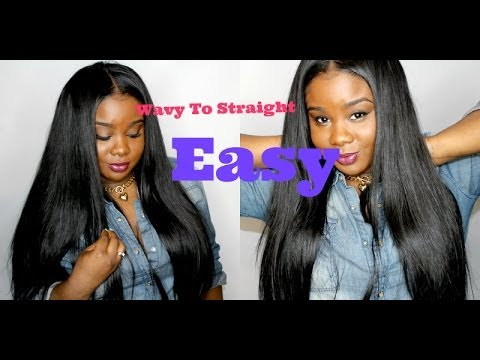Silky Straight Hair Amp Leave Out Fast Youtube
