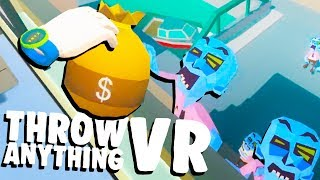 DEFENDING the OFFICE from the ZOMBIE INVASION! - Throw Anything VR