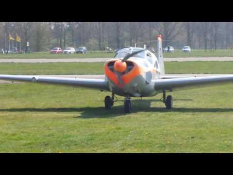 Engine run-up of Saab 91D Safir PH-RLD