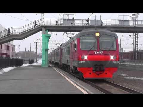 Электропоезд ЭД4М-0052/ЭД4МК-1010 сообщением Коченёво - Новосибирск-Главный