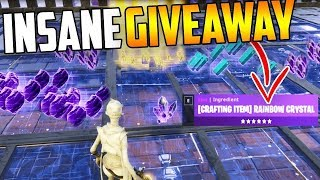 Insane Fortnite Legacy & 130 save the World Giveaway Live Now join to get gun
