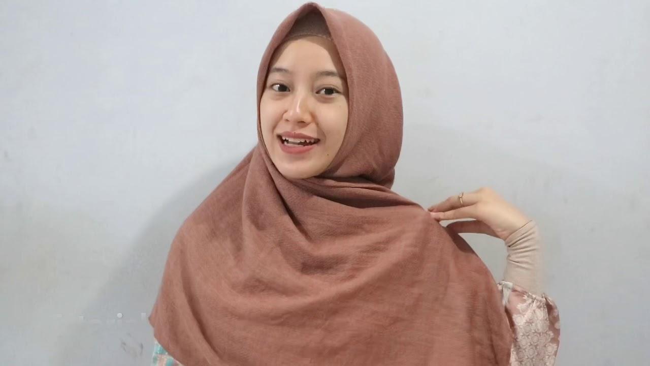 Tutorial Hijab Square Syar I Menutup Dada Youtube