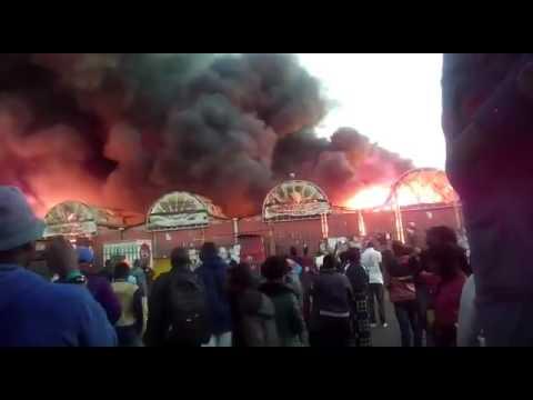 Lusaka City market burns down