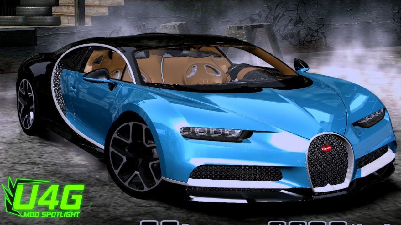 bugatti chiron 2017 need for speed most wanted 2005 car mods youtube. Black Bedroom Furniture Sets. Home Design Ideas