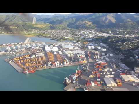 Flying in to Nelson Airport, Top of the South Island, New Zealand