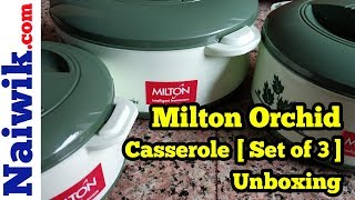 Milton Orchid 3 Piece Junior Insulated Casserole [ Set of 3 ] || Unboxing