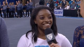 Olympian Simone Biles cheers on Madison Kocian and Bruins: 'It's always amazing to support my...