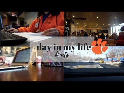 day in my life | finals at clemson university