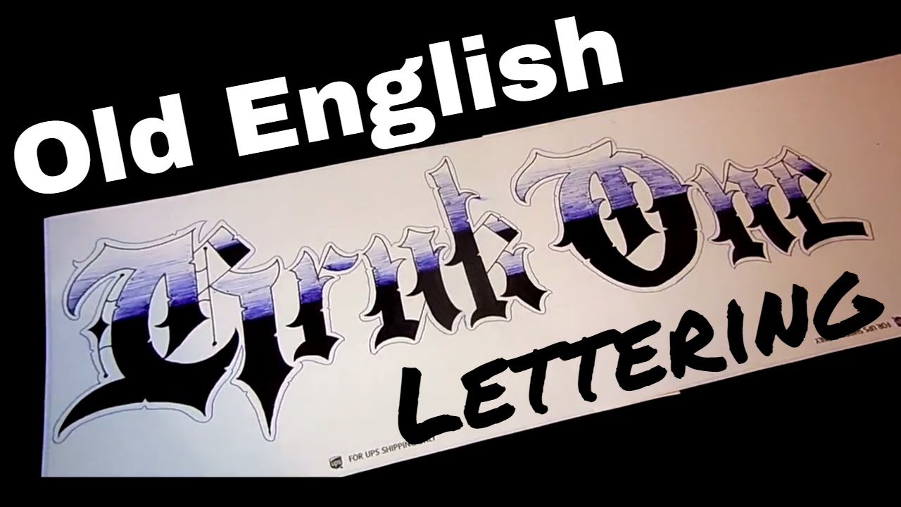 Old English Lettering Krukone Youtube