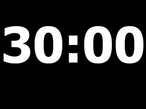 30 minute countdown timer youtube for Dans 30 minutes