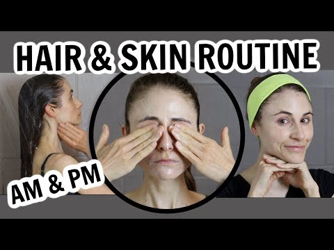 DERMATOLOGIST'S HAIR & SKIN CARE ROUTINE (AM & PM)| DR DRAY