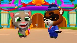 ГОВОРЯЩИЙ ТОМ АКВАПАРК #1 Анджела Хэнк Бен и Джинджер мультик игра видео для детей #Ушастик KIDS