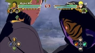 Naruto Ultimate Ninja Storm 3 Masked Man Complete Moveset with Command List