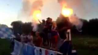 Söderala Ultras i hemmamatchen mot Vallsta i div 6 Hälsingland