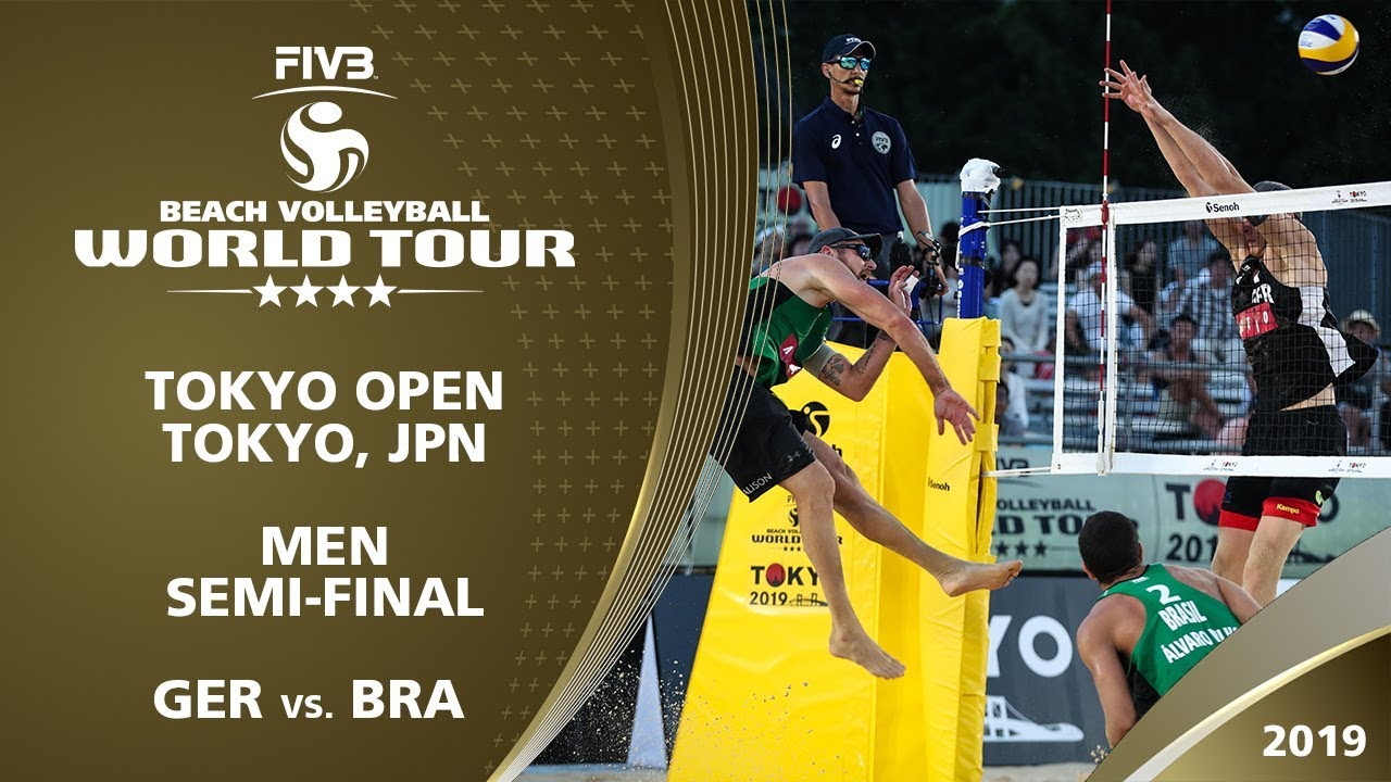 Men's Semi-Final: GER vs. BRA | 4* Tokyo (JPN) - 2019 FIVB Beach Volleyball World Tour