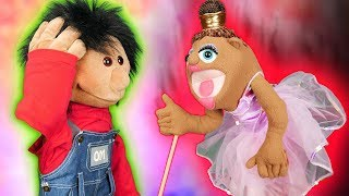 CRAZY BALERINA VISITED US! (Funny Puppet Roleplay)
