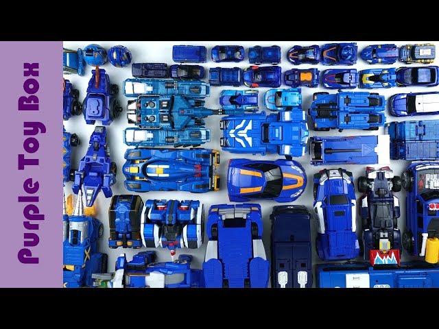 49 blue Transformers Car Airplane Dinosaur Robot Toys
