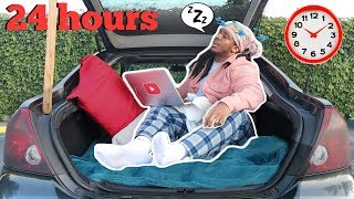 Living In My CAR For 24 HOURS! (never again)