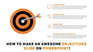 Powerpoint Tutorial: How to Make an Awesome Objectives Slide