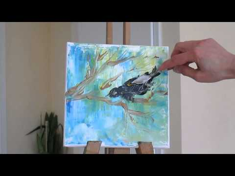 Tanja Bell How To Paint Tree Branches Bird Tutorial